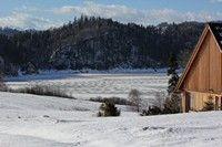 Jezioro Czorsztyńskie widziane z Osady Czorsztyn