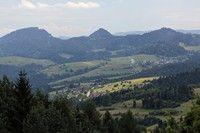 Pieniny widziane z góry Wdżar