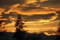 Zachód słońca z okien Familiówki